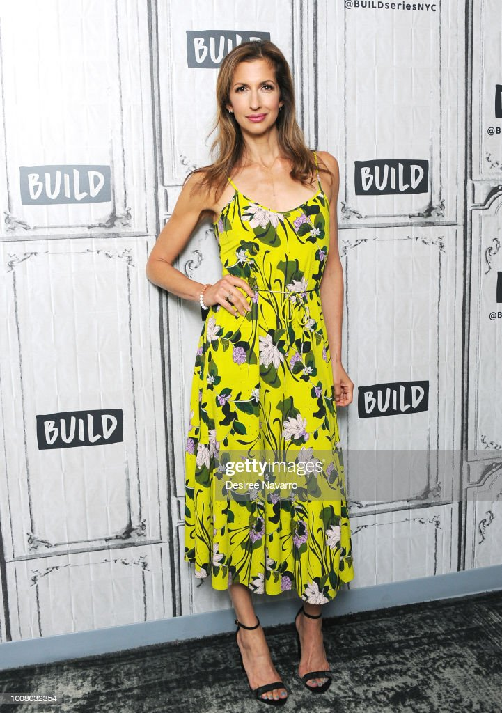 Actress Alysia Reiner visits Build Series to discuss the TV series 'Orange is the New Black' at Build Studio on July 30, 2018 in New York City.