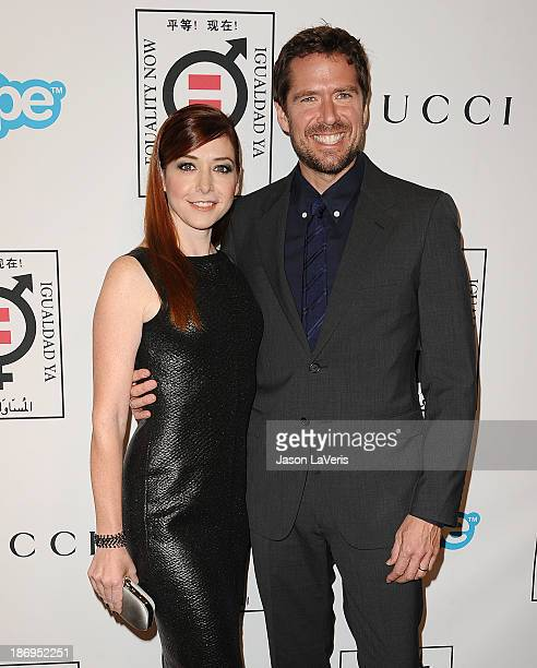 Actress Alyson Hannigan and actor Alexis Denisof attend the Make Equality Reality event at Montage Beverly Hills on November 4 2013 in Beverly Hills...