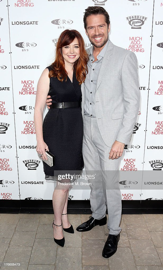 Actress Alyson Hannigan (L) and actor Alexis Denisof attend the screening of Lionsgate and Roadside Attractions' 'Much Ado About Nothing' at Oscar's Outdoors Hollywood theater on June 5, 2013 in Hollywood, California.