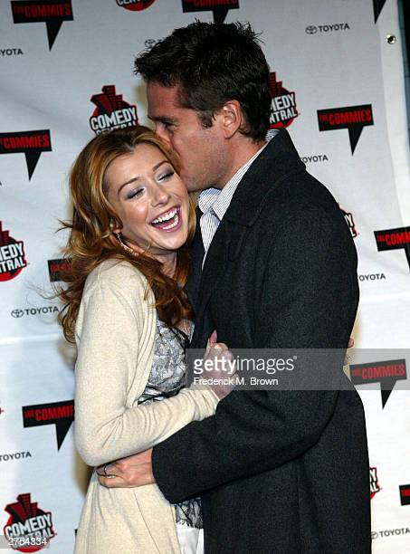 Actress Alyson Hannigan and actor/husband Alexis Denisof attend Comedy Central's First Ever Awards Show The Commies at Sony Pictures Studios in...