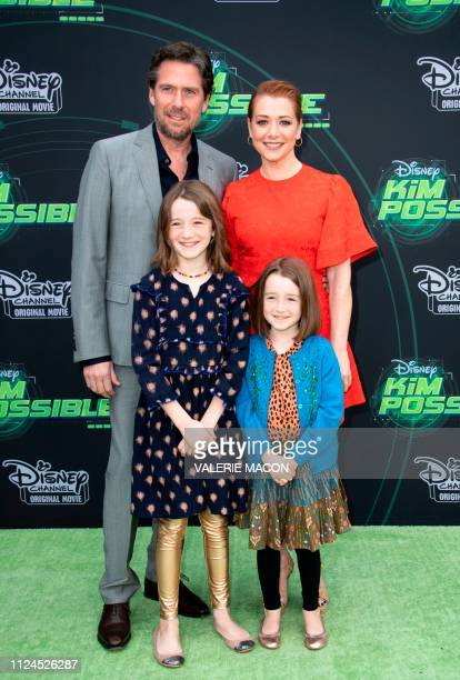 Actress Alyson Hannigan and family attend the world premiere of Disney channel original movie 'Kim Possible' in North Hollywood California on...