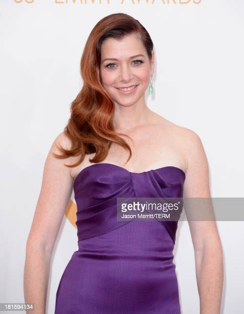 Actress Alyson Hannigan arrives at the 65th Annual Primetime Emmy Awards held at Nokia Theatre LA Live on September 22 2013 in Los Angeles California