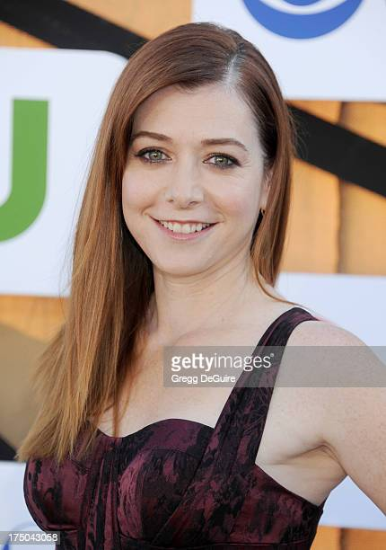 Actress Alyson Hannigan arrives at the CBS/CW/Showtime Television Critic Association's summer press tour party at 9900 Wilshire Blvd on July 29 2013...