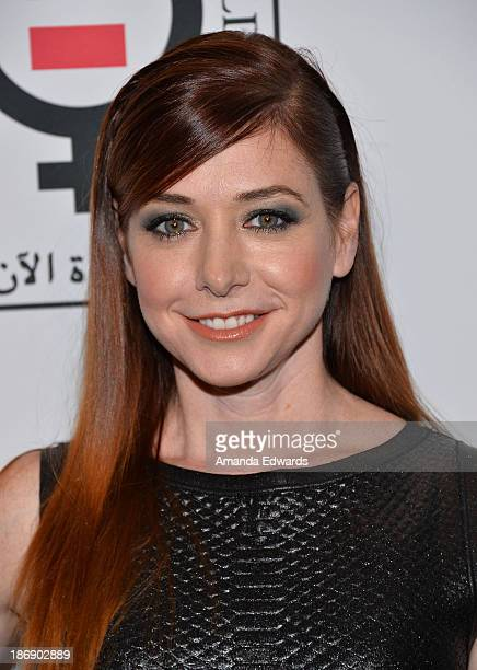Actress Alyson Hannigan arrives at the Equality Now Make Equality Reality event at the Montage Beverly Hills on November 4 2013 in Beverly Hills...