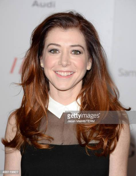Actress Alyson Hannigan arrives at The Hollywood Reporter's 22nd Annual Women In Entertainment Breakfast at Beverly Hills Hotel on December 11 2013...