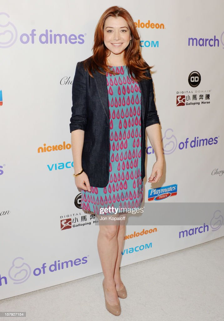 Actress Alyson Hannigan arrives at the March Of Dimes Celebration Of Babies Luncheon at Beverly Hills Hotel on December 7, 2012 in Beverly Hills, California.