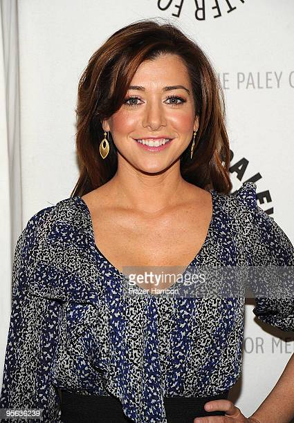 Actress Alyson Hannigan arrives at the Paley Center For Media Celebrates How I Met Your Mother 100th Episode on January 7 2010 in Beverly Hills...