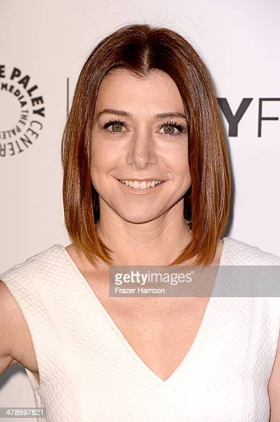 Actress Alyson Hannigan arrives at The Paley Center For Media's PaleyFest 2014 Honoring 'How I Met Your Mother' Series Farewell at Dolby Theatre on...