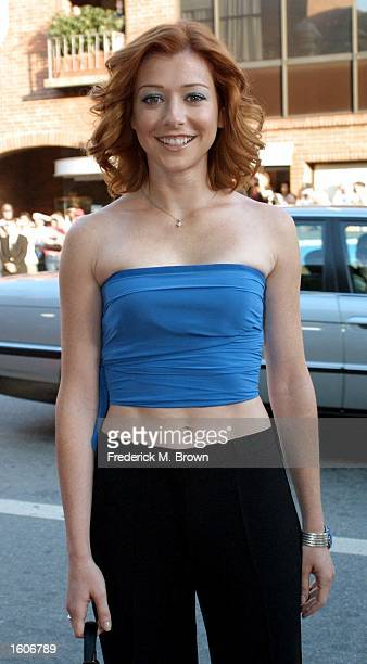 Actress Alyson Hannigan arrives at the premiere of the film 'American Pie 2' August 6 2001 in Los Angeles CA