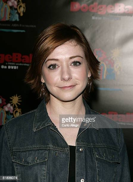 Actress Alyson Hannigan attends Dodgeball The Celebrity Tournament to benefit the Elizabeth Glaser Pediatric Aids Foundation and celebrate the DVD...
