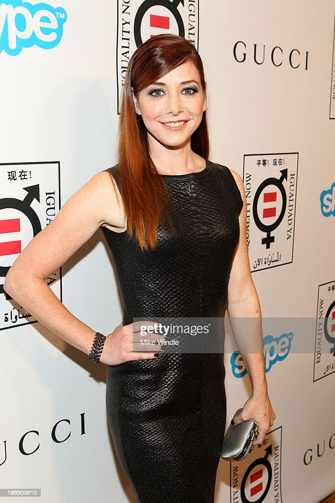 Actress Alyson Hannigan attends Equality Now presents 'Make Equality Reality' at Montage Hotel on November 4, 2013 in Los Angeles, California.