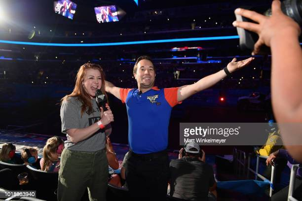 Actress Alyson Hannigan attends Monster Jam at STAPLES Center on Saturday August 18 2018 in Los Angeles CAa