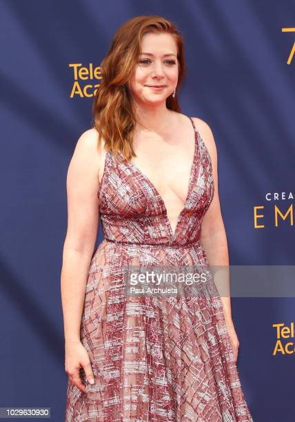 Actress Alyson Hannigan attends the 2018 Creative Arts Emmy Awards Day 1 at Microsoft Theater on September 8 2018 in Los Angeles California