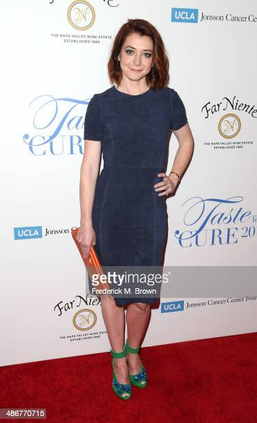 Actress Alyson Hannigan attends the Jonsson Cancer Center Foundation's 19th Annual 'Taste for a Cure' at the Regent Beverly Wilshire Hotel on April...