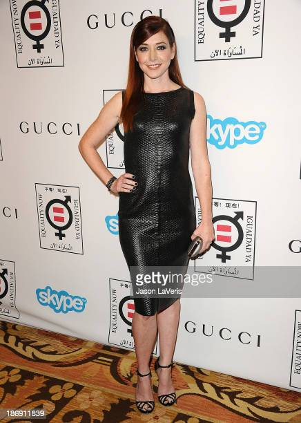 Actress Alyson Hannigan attends the 'Make Equality Reality' event at Montage Beverly Hills on November 4 2013 in Beverly Hills California