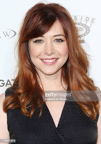 Actress Alyson Hannigan attends the screening of Lionsgate and Roadside Attractions' 'Much Ado About Nothing' at Oscar's Outdoors Hollywood theater...