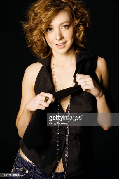 Actress Alyson Hannigan is photographed for Venice Magazine on October 1 2005 in Los Angeles California