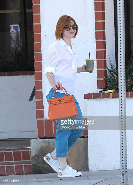 Actress Alyson Hannigan is seen on August 31 2015 in Los Angeles California
