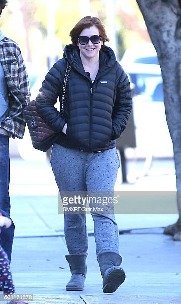 Actress Alyson Hannigan is seen on December 12 2015 in Los Angeles California