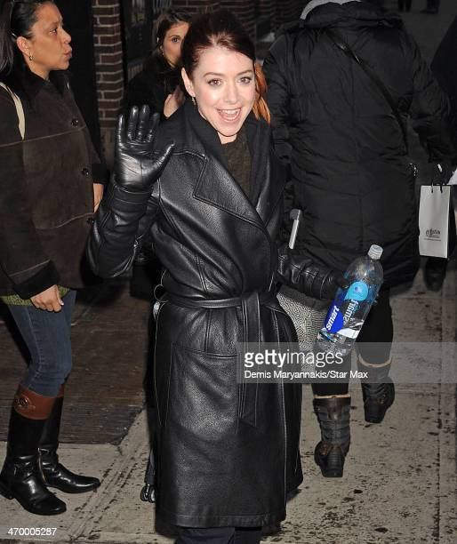 Actress Alyson Hannigan is seen on February 17 2014 in New York City