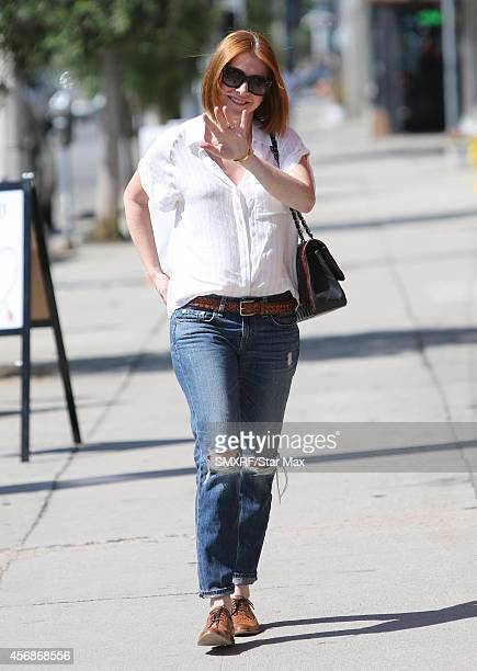 Actress Alyson Hannigan is seen on October 8 2014 in Los Angeles California