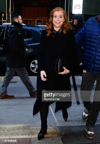 Actress Alyson Hannigan is seen outside the TODAY show on January 30 2020 in New York City