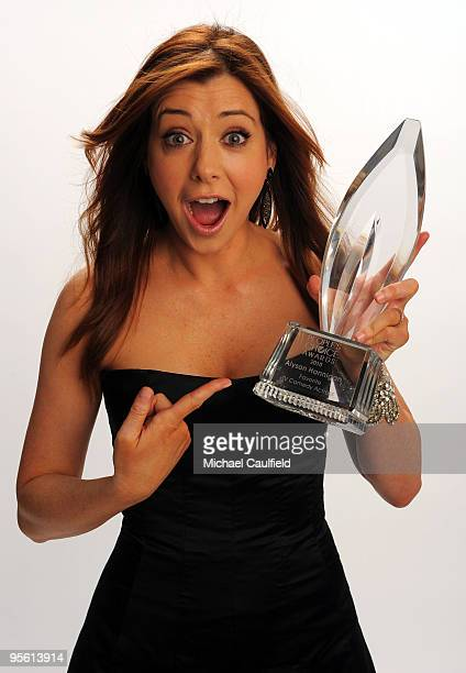 Actress Alyson Hannigan poses for a portrait during the People's Choice Awards 2010 held at Nokia Theatre LA Live on January 6 2010 in Los Angeles...