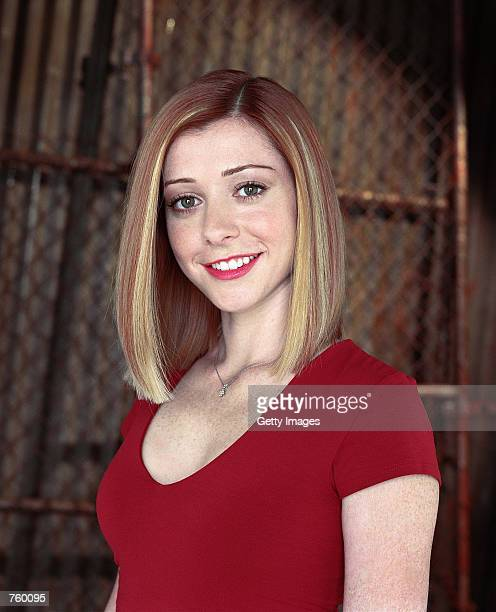 """Actress Alyson Hannigan poses for a publicity still for the UPN television series """"Buffy The Vampire Slayer."""""""