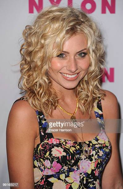 Actress Alyson Michalka arrives at the NYLON YouTube Young Hollywood Party at the Roosevelt Hotel on May 12 2010 in Hollywood California