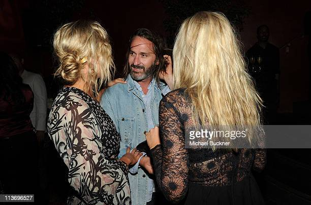 Actress Alyson Michalka producer Matt Goldman and actress Amanda Michalka attend NYLON Magazine May Young Hollywood Celebration Hosted by Emma...