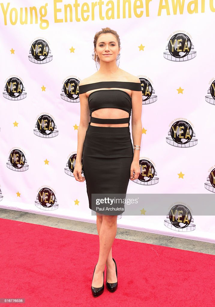Actress Alyson Stoner attends the 1st annual Young Entertainer Awards at The Globe Theatre at Universal Studios on March 20, 2016 in Universal City, California.