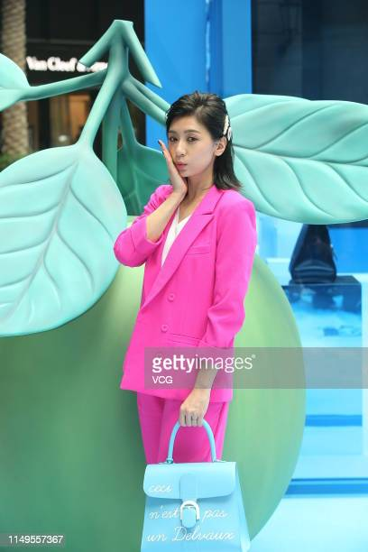 Actress Alyssa Chia attends Delvaux popup store activity on May 16 2019 in Taipei Taiwan of China