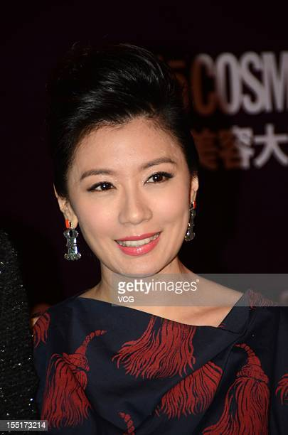 Actress Alyssa Chia attends the Cosmo Beauty Awards 2012 at Shangahi Culture Square on November 1 2012 in Shanghai China