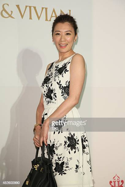 Actress Alyssa Chia attends the wedding ceremony of Vivian Hsu and Sean Lee at Le Meridien Hotel on Wednesday July 232014 in TaipeiChina