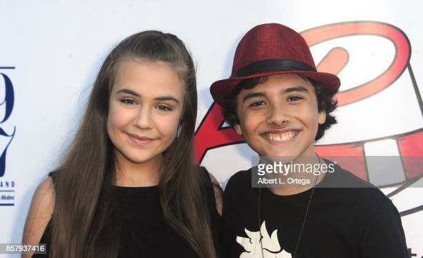 Actress Alyssa de Boisblanc and Actor Hunter Payton at his 13th Birthday Bash held at a private location on October 4 2017 in Simi Valley California