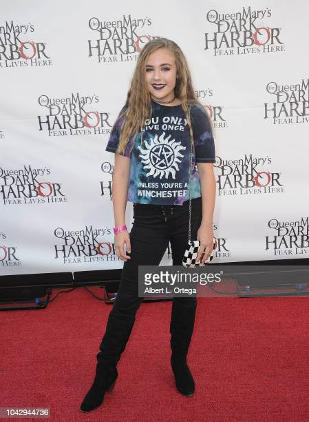 Actress Alyssa de Boisblanc arrives for The Queen Mary's Dark Harbor Media And VIP Night held at The Queen Mary on September 28 2018 in Long Beach...