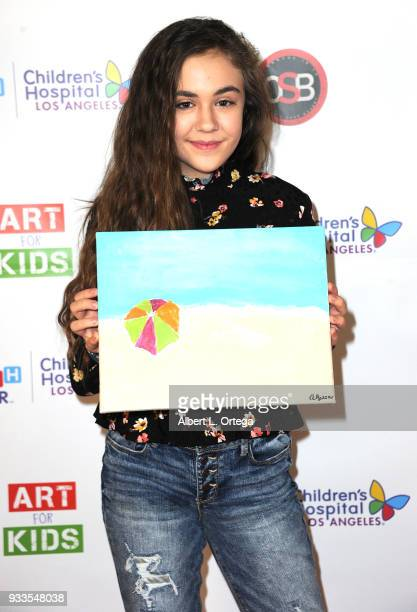 Actress Alyssa de Boisblanc attends Art For Kids And The Cast Of USA Networks' 'The Secret Lives Of Kids' Create Art To Benefit Children's Hospital...