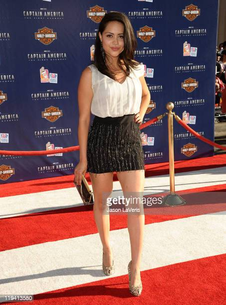 """Actress Alyssa Diaz attends the premiere of """"Captain America: The First Avenger"""" at the El Capitan Theatre on July 19, 2011 in Hollywood, California."""