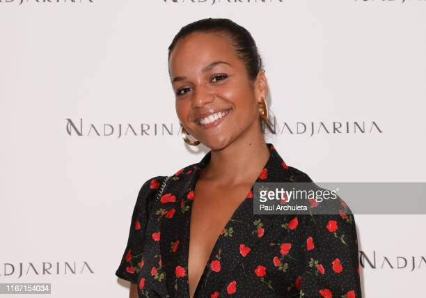 Actress Alyssa Goss attends the Nadjarina Cocktails and fashion event at the Spring Place on August 09 2019 in Beverly Hills California