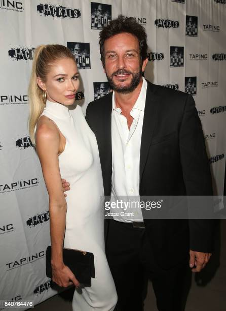 Actress Alyssa Julya Smith and producer Tommy Alastra attend the Los Angeles Premiere of 'Jackals' on August 29 2017 in Hollywood California