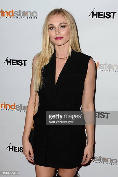 Actress Alyssa Julya Smith arrives at the screening of Lionsgate's 'Heist' at Sundance Cinemas on November 9 2015 in West Hollywood California
