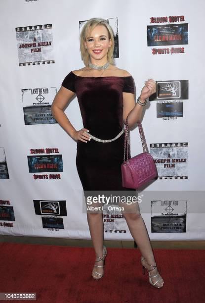 Actress Alyssa Leonard arrives for the 'Clown Motel Spirit's Arise' Premiere held at Downtown Independent Theater on September 29 2018 in Los Angeles...