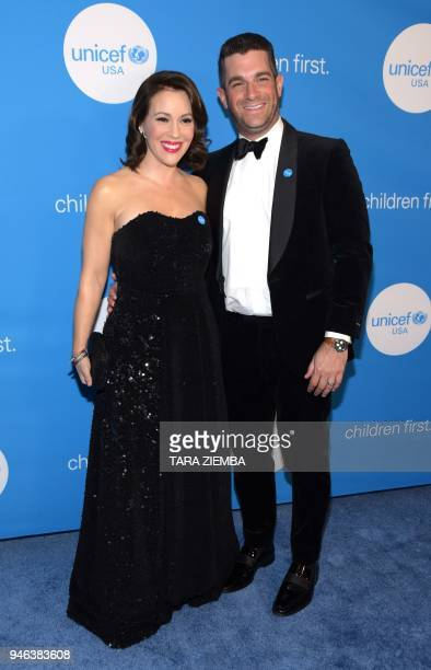 Actress Alyssa Milano and David Bugliari attend the 7th Biennial UNICEF Ball at The Beverly Wilshire Hotel on April 14 2018 in Beverly Hills...