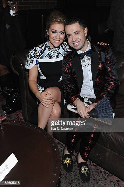 Actress Alyssa Milano and designer Viktor Luna attend the Project Runway All Stars Season 3 premiere party presented by The Weinstein Company and...