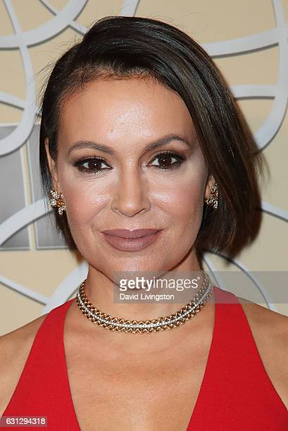 Actress Alyssa Milano arrives at HBO's Official Golden Globe Awards after party at the Circa 55 Restaurant on January 8 2017 in Los Angeles California