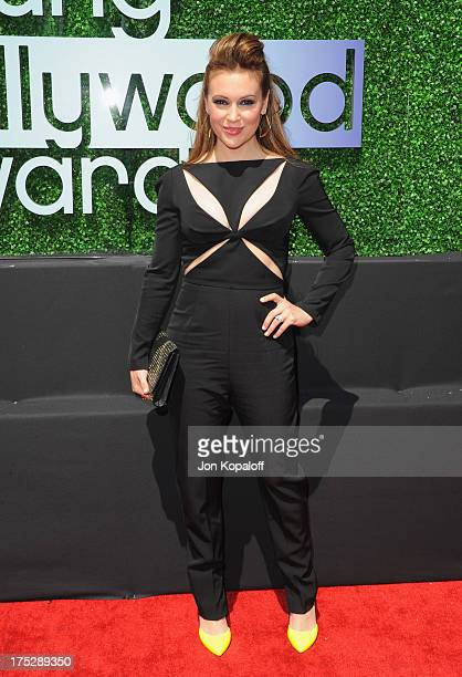 Actress Alyssa Milano arrives at the 15th Annual Young Hollywood Awards at The Broad Stage on August 1 2013 in Santa Monica California