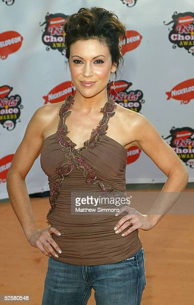 Actress Alyssa Milano arrives at the 18th Annual Kids Choice Awards at UCLA's Pauley Pavillion on April 2 2005 in Westwood California