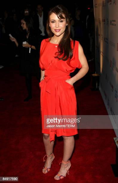 Actress Alyssa Milano arrives at the Children Mending Hearts Gala held at the House Of Blues on February 18 2009 in Hollywood California