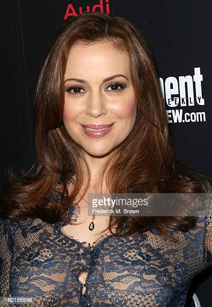 Actress Alyssa Milano attends Entertainment Weekly Screen Actors Guild Awards PreParty at Chateau Marmont on January 26 2013 in Los Angeles California