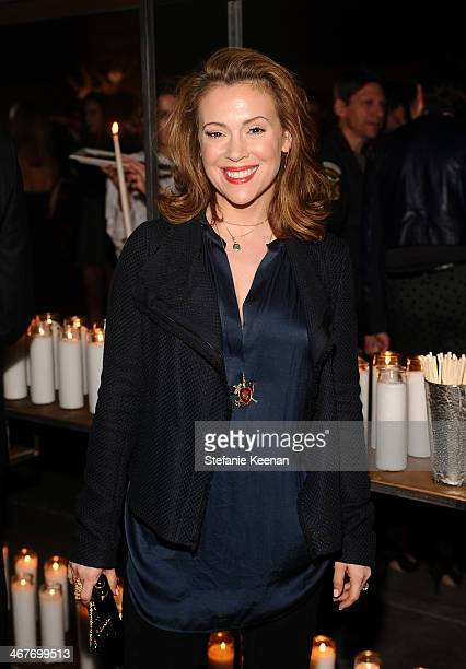 Actress Alyssa Milano attends Hollywood Stands Up To Cancer Event with contributors American Cancer Society and Bristol Myers Squibb hosted by Jim...
